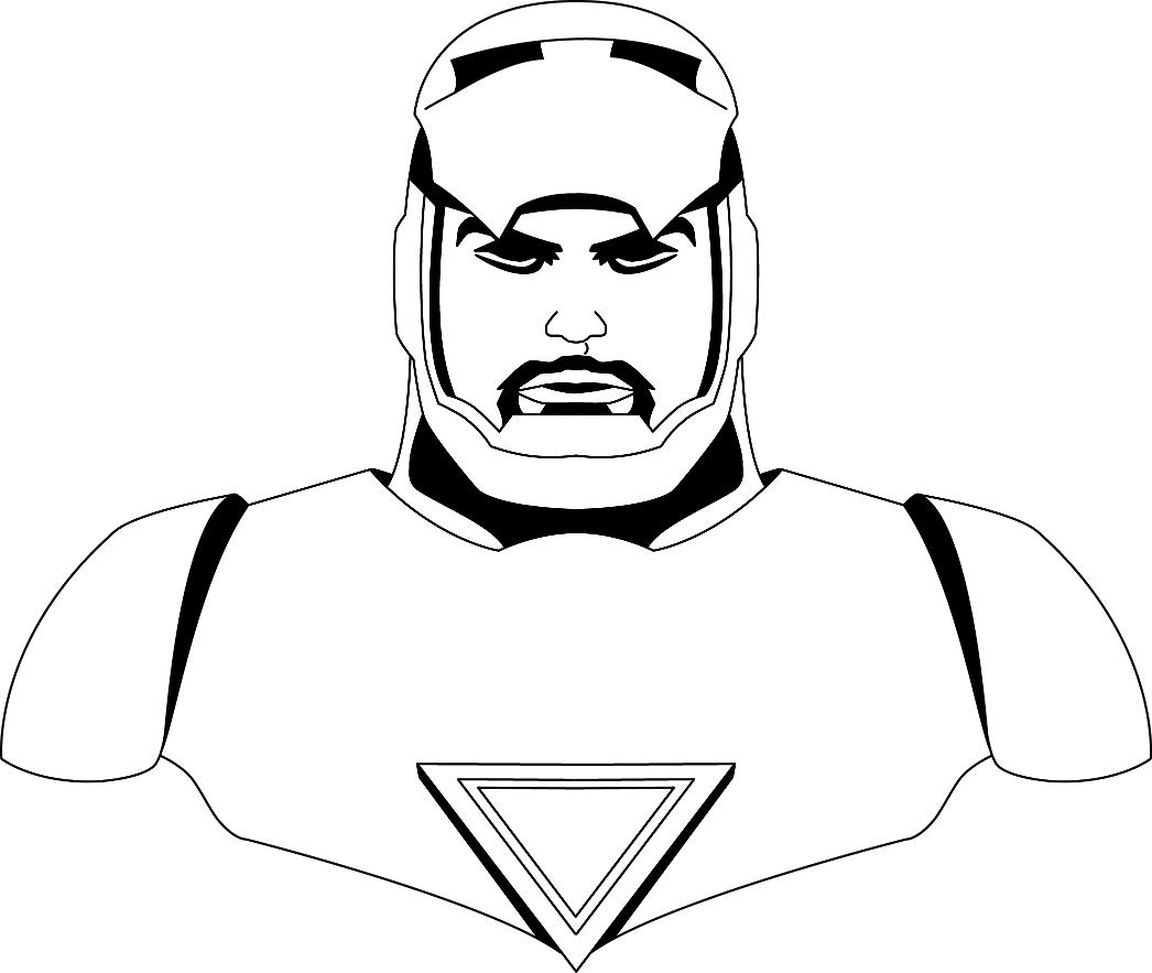 Black and White, kinda storm trooper like.